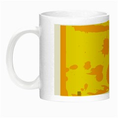 Texture Yellow Abstract Background Night Luminous Mugs