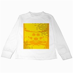 Texture Yellow Abstract Background Kids Long Sleeve T-Shirts