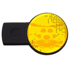 Texture Yellow Abstract Background USB Flash Drive Round (4 GB)