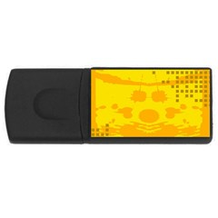 Texture Yellow Abstract Background Usb Flash Drive Rectangular (4 Gb)