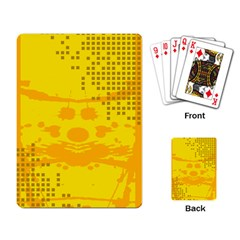 Texture Yellow Abstract Background Playing Card