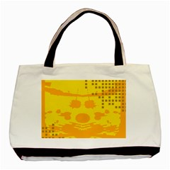 Texture Yellow Abstract Background Basic Tote Bag