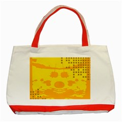 Texture Yellow Abstract Background Classic Tote Bag (Red)