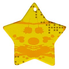 Texture Yellow Abstract Background Star Ornament (Two Sides)