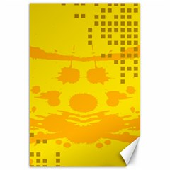 Texture Yellow Abstract Background Canvas 20  x 30