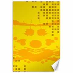 Texture Yellow Abstract Background Canvas 24  x 36