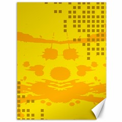 Texture Yellow Abstract Background Canvas 36  x 48
