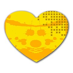 Texture Yellow Abstract Background Heart Mousepads