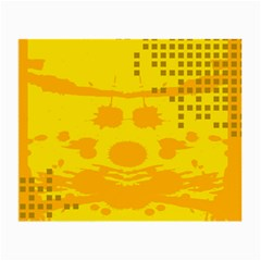 Texture Yellow Abstract Background Small Glasses Cloth (2 Side)
