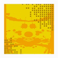 Texture Yellow Abstract Background Medium Glasses Cloth (2 Side)