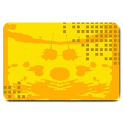 Texture Yellow Abstract Background Large Doormat