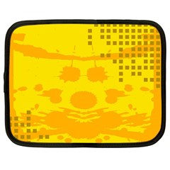 Texture Yellow Abstract Background Netbook Case (large)