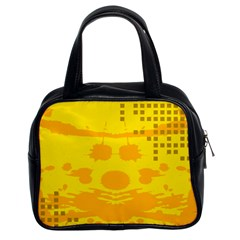 Texture Yellow Abstract Background Classic Handbags (2 Sides)
