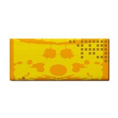 Texture Yellow Abstract Background Cosmetic Storage Cases