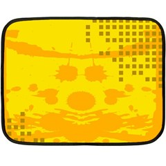 Texture Yellow Abstract Background Double Sided Fleece Blanket (mini)
