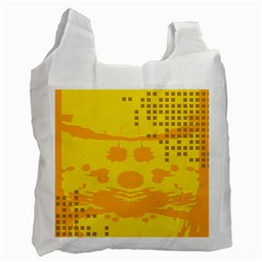 Texture Yellow Abstract Background Recycle Bag (One Side)