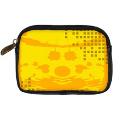 Texture Yellow Abstract Background Digital Camera Cases