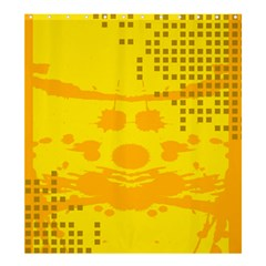 Texture Yellow Abstract Background Shower Curtain 66  x 72  (Large)