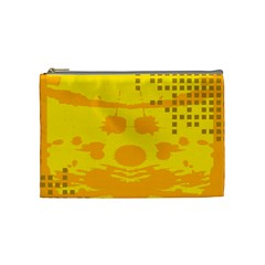 Texture Yellow Abstract Background Cosmetic Bag (Medium)