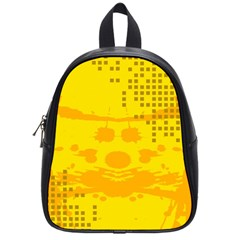 Texture Yellow Abstract Background School Bags (small)