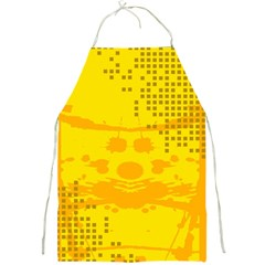 Texture Yellow Abstract Background Full Print Aprons