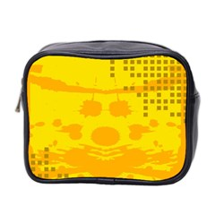 Texture Yellow Abstract Background Mini Toiletries Bag 2-Side