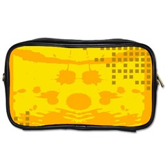 Texture Yellow Abstract Background Toiletries Bags 2 Side