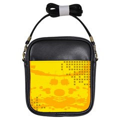 Texture Yellow Abstract Background Girls Sling Bags