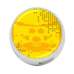 Texture Yellow Abstract Background 4 Port Usb Hub (one Side)