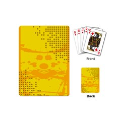 Texture Yellow Abstract Background Playing Cards (mini)