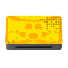 Texture Yellow Abstract Background Memory Card Reader With Cf