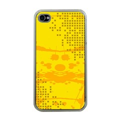 Texture Yellow Abstract Background Apple iPhone 4 Case (Clear)