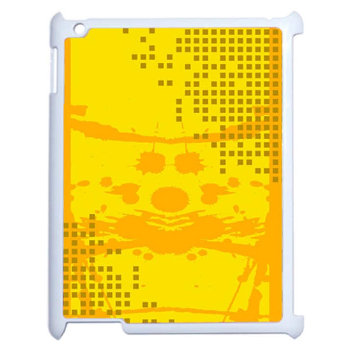 Texture Yellow Abstract Background Apple iPad 2 Case (White)