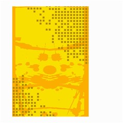 Texture Yellow Abstract Background Small Garden Flag (Two Sides)