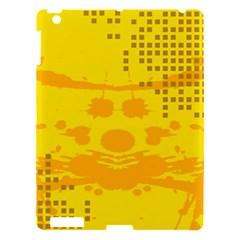 Texture Yellow Abstract Background Apple iPad 3/4 Hardshell Case