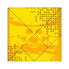 Texture Yellow Abstract Background Acrylic Tangram Puzzle (6  x 6 )