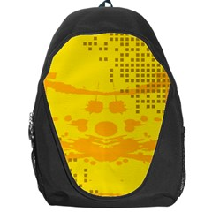 Texture Yellow Abstract Background Backpack Bag