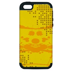 Texture Yellow Abstract Background Apple Iphone 5 Hardshell Case (pc+silicone)