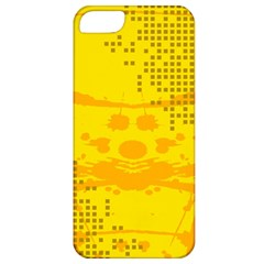 Texture Yellow Abstract Background Apple Iphone 5 Classic Hardshell Case