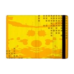 Texture Yellow Abstract Background Apple Ipad Mini Flip Case