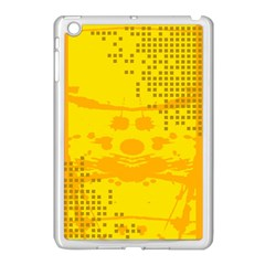 Texture Yellow Abstract Background Apple Ipad Mini Case (white)