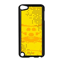 Texture Yellow Abstract Background Apple Ipod Touch 5 Case (black)