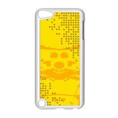 Texture Yellow Abstract Background Apple iPod Touch 5 Case (White)