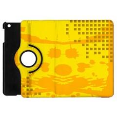 Texture Yellow Abstract Background Apple Ipad Mini Flip 360 Case