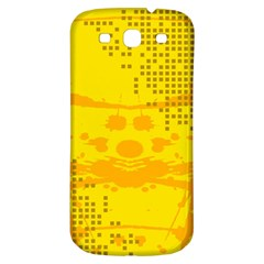 Texture Yellow Abstract Background Samsung Galaxy S3 S III Classic Hardshell Back Case