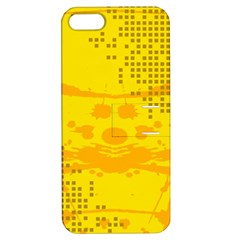 Texture Yellow Abstract Background Apple iPhone 5 Hardshell Case with Stand