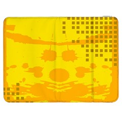 Texture Yellow Abstract Background Samsung Galaxy Tab 7  P1000 Flip Case