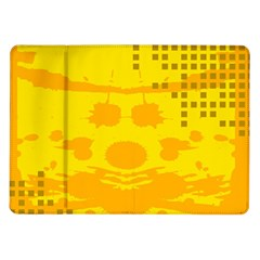 Texture Yellow Abstract Background Samsung Galaxy Tab 10 1  P7500 Flip Case