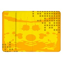 Texture Yellow Abstract Background Samsung Galaxy Tab 8.9  P7300 Flip Case