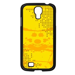 Texture Yellow Abstract Background Samsung Galaxy S4 I9500/ I9505 Case (black)